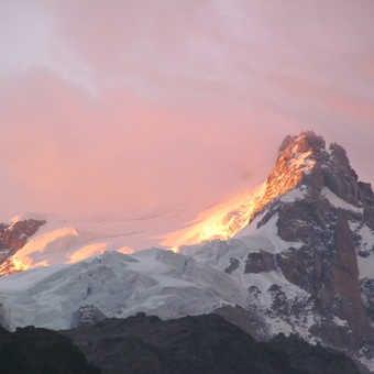 Neil Pittaway Mountain glacier at sundown, near Chamonix