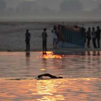 The Ganges swim