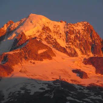 Neil Pittaway sundown  mountain view from Bosson Camp