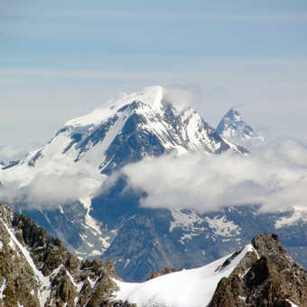 Neil Pittaway The summit of Mont Blanc viewed from the Aguille Du Midi