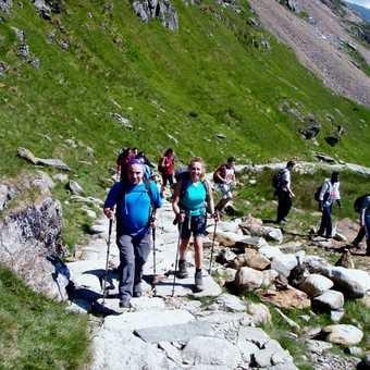 Climbing the PYG track