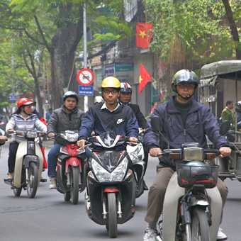 A quiet street in Hanoi