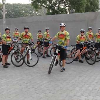 Our group - we had cycle tops made