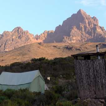 leaning toilet. and kilimanjaro