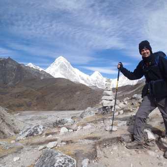 Just below Lobuche at the start of the Khumbu Glacier