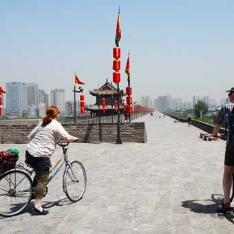 Cyling on City Wall Xian