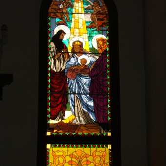 Camaguey, stained glass church window