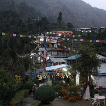 Jhinnundanda - a beautiful village for the last night in a lodge on the trek
