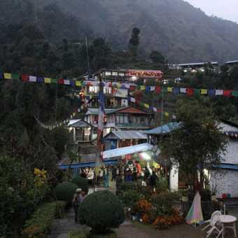 Jhinnundanda - a beautiful village for the last night in a lodge on the trek