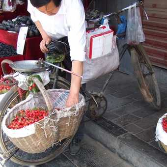 Cherries for sale Xian