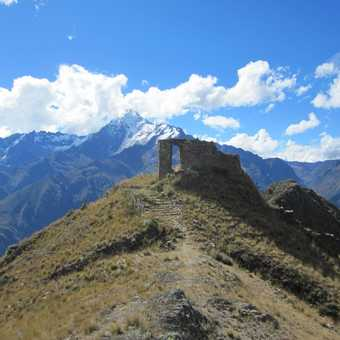 Inca Ruins above sacred valley