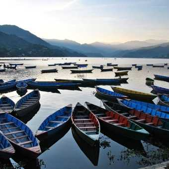 Pokhara lake evening