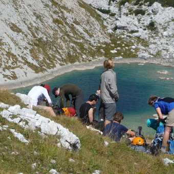 Day 3 - Lunch Break above one of the Seven Lakes