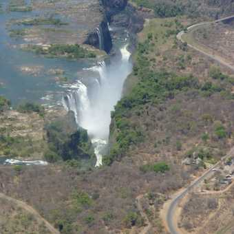 Victoria Falls from the helicopter