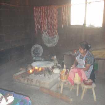 Tortillas in the making (local restaurant San Cristobal)