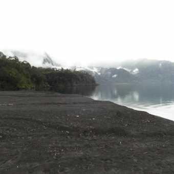 View from canyon on Volcan Orsono across Lago Todos Los Santos