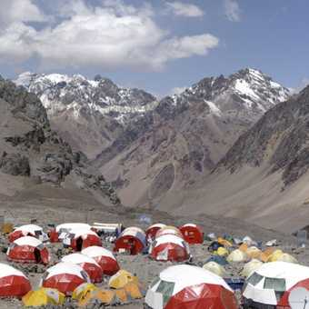 Base Camp , Plaza de Mulas (4350m) , Panorama 2