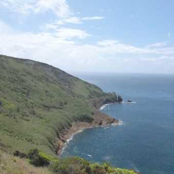 Trekking around Capelinhos volcano