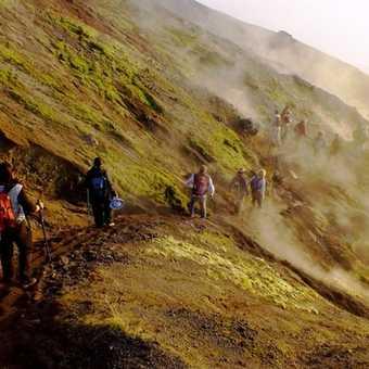 Fumaroles on Mount Vesuvius