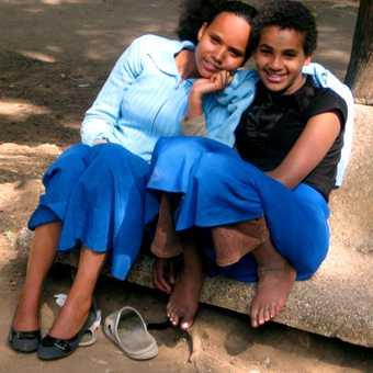 Addis Adaba schoolgirls