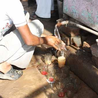 washing up after a cup of chai
