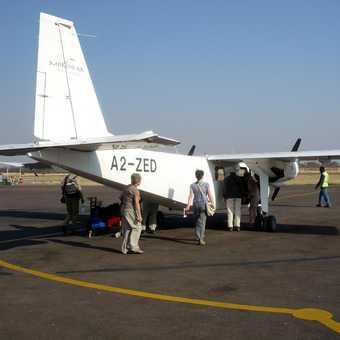 Boarding at Maun airport
