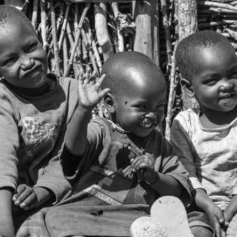 Masai kids smiling