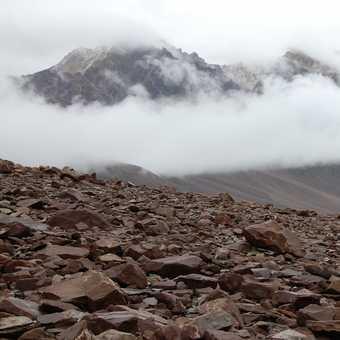 On the last few kilometers of the trek