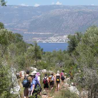 Walking down to the Turquoise Coast