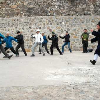 Tai Chi lesson with the group