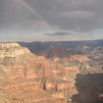 Rainbow over the Canyon