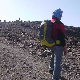 Approach to the summit.