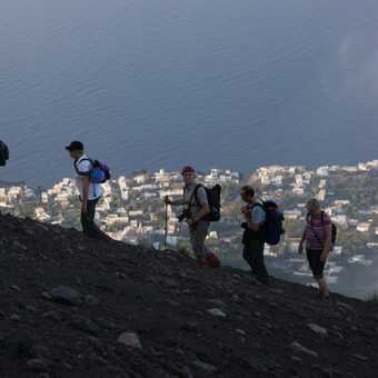 Going up Stromboli