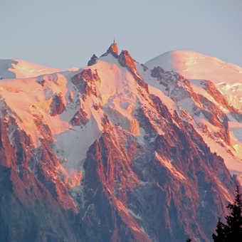 Neil Pittaway The Midi and Mont Blanc from