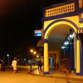Downtown Bayamo by night.