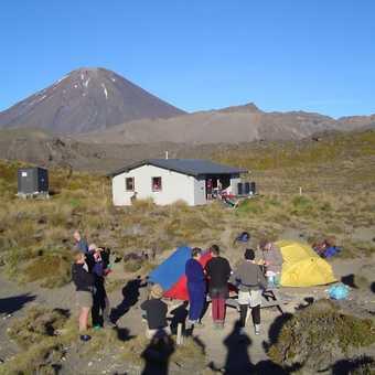 Tongariro Crossing - morning cuppa