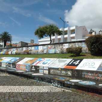 Sailor art in Horta's marina - a famous mid-Atlantic stopover point