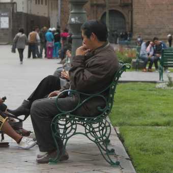 Shoe shine man, Cusco