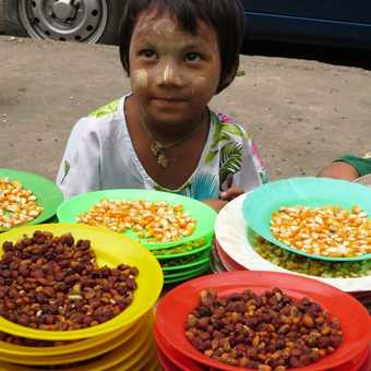Young street food seller