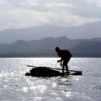 Fisherman on Lake Chamo