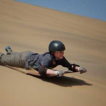 Sand-boarding at speed