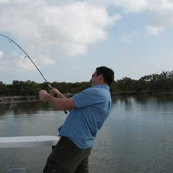 Catching a big one in the Florida Keys