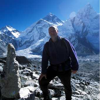 Me with Everest behind