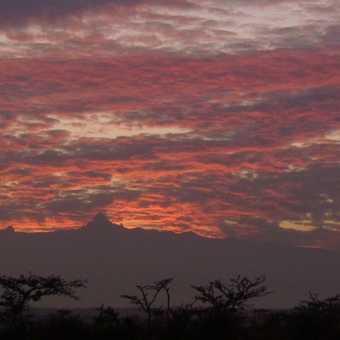 Mt Kenya from Ol Pejeta