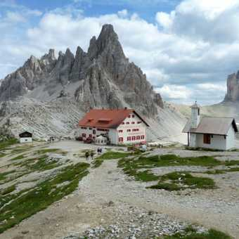 A refuge near the Tre Cime