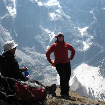 5/4 Rachel and Chris on acclimisation climb