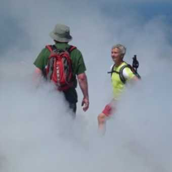 Walking around the fumaroles