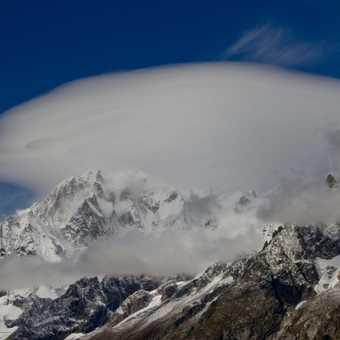 Lenticular cloud over Mont Blanc