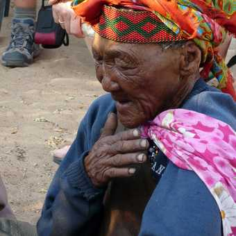 Old Khoisan woman - Kalahari