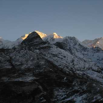 View from Dzongri Peak to Kanchenchunga